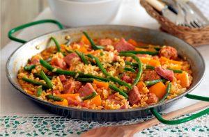 gammon-and-sausage-paella