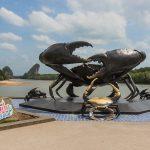 Crab sculpture in Krabi, Thailand